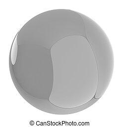 Glossy blue sphere