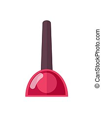Glossy Bottle of Red Nail Polish with Cone Top - Glossy...