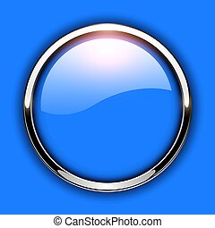 Glossy button blue