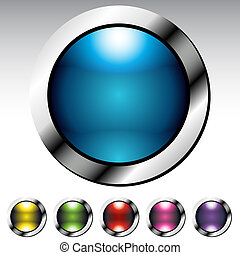 Glossy Button Metallic Set