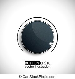 Glossy Button. Vector Illustration