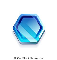 Glossy button, vector web icon