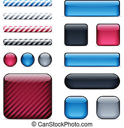 Glossy buttons and bars