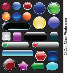 Glossy buttons collection