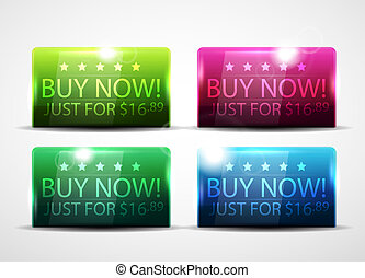 Glossy buy now buttons