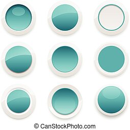 Glossy Ceramic Buttons