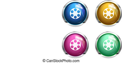 Glossy cinema buttons