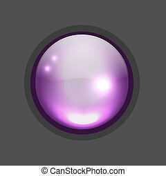 Glossy circle button for your design