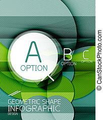 Glossy circle geometric shape info background - Glossy...
