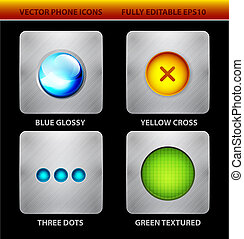 Glossy circles mobile app icons