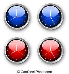 Glossy clocks