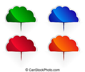 Glossy cloud labels