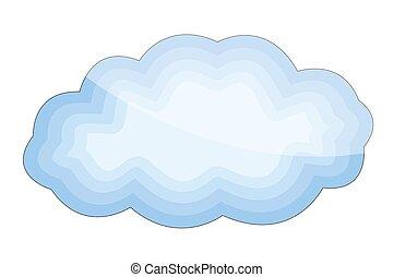 Cloud Shape Abstract Vintage Frame Vector Design Clipart