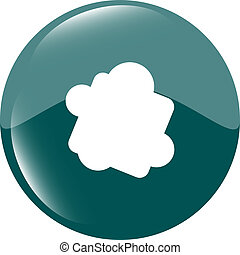 Glossy cloud web button icon