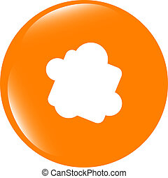 Glossy cloud web button icon . Flat sign isolated on white