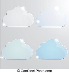 Glossy cloud with color shades