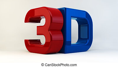 Glossy colored 3D logo isolated on white background with reflection effect.