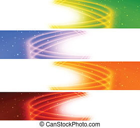 Glossy colorful banner. Vector set
