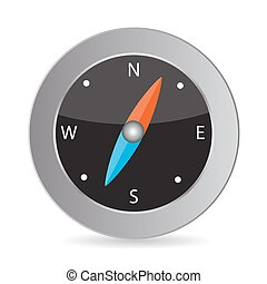 Glossy Compass. Vector Illustration