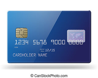 Glossy credit card. - Highly detailed glossy credit card....