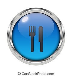 Glossy cutlery icon