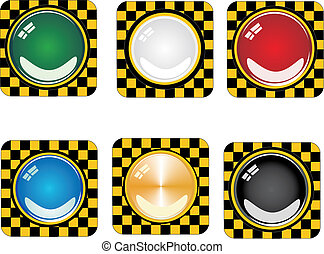 Glossy danger buttons