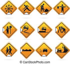 Glossy Diamond Road Stickers