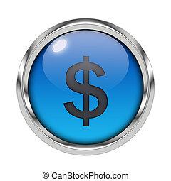 Glossy dollar icon