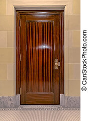 Glossy door inside Utah State Capital Building