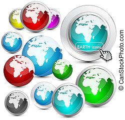 Glossy Earth Globe design
