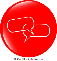 glossy empty speech bubble web button icon