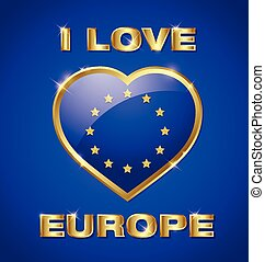 Glossy european heart