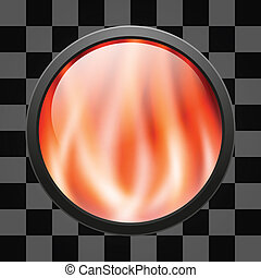 Glossy fire button for web applications