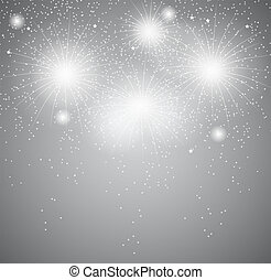 Glossy Fireworks Background Vector Illustration
