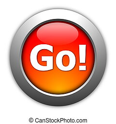 go or start button - glossy go or start button for internet...