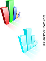 Glossy graph for design and business concept