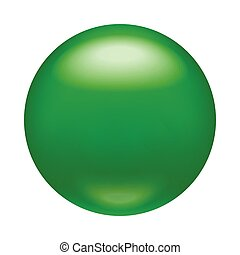 Glossy green badge, magnet icon, realistic style
