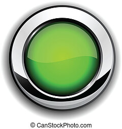Glossy green button.