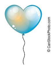 Glossy Heart Balloon Vector