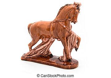 Glossy horse statuette