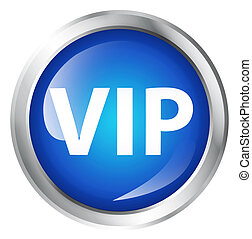 Glossy icon or button. VIP