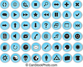 Glossy Icon Set for Web
