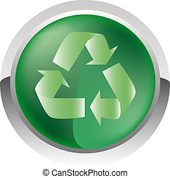 glossy icon - Recycle glossy icon