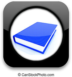 Glossy icon with book