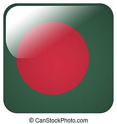 Glossy icon with flag of Bangladesh