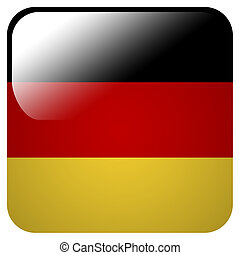Glossy icon with flag of Germany
