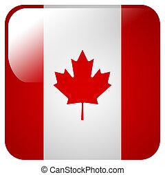 Glossy icon with flag of Canada