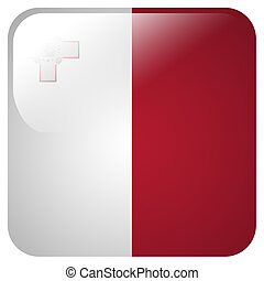 Glossy icon with flag of Malta