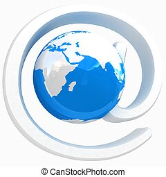 Glossy icon with mail for Earth