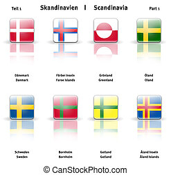 Glossy icons Scandinavia (Part 1) - High resolution glossy...